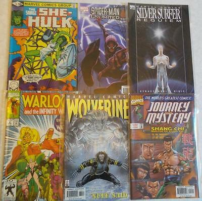 6 x  different Marvel Comics 1970s - 2000s FREE P&P. Spider-Man, Wolverine etc