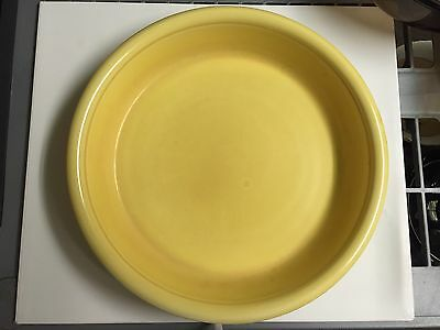 Vintage Homer Laughlin Made In USA Yellow Pie Plate Oven Serve