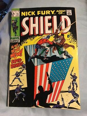 Nick Fury Agent of SHIELD #13 Silver Age Marvel Comics Very Good
