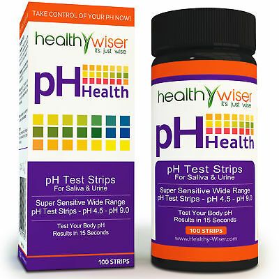 pH Test Strips 100ct, Quick and Accurate Results in 15 seconds