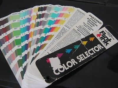 PANTONE Color Selector matching system formula guide 1990-1991 used