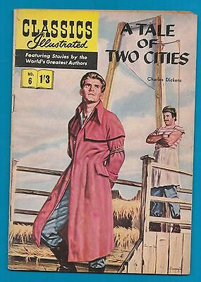 Classics Illustrated Comic # 6  A Tale of Two Cities   by  Charles Dickens  #816