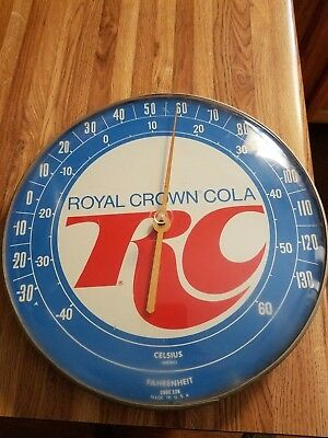 Royal Crown Cola Vintage Thermometer No Reserve