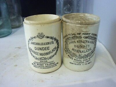 lot of 2 dundee marmalade crocks