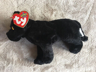 Midnight the Black Panther Ty Beanie Baby MWMT - TAG ERROR- Hang 2000, Tush 2001