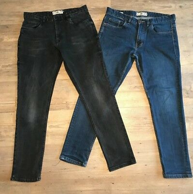 Two Pairs Of Mens/boys Next Skinny Fit Jeans Size 32 S