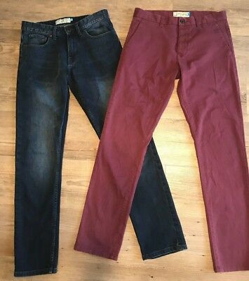 Two Pairs Of Mens/boys Next Slim Fit Chinos/jeans Size 30 R