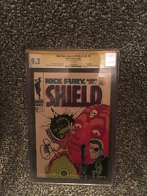 Cgc 9.2 Nick Fury Agent Of Shield #5 Jim Steranko Signature Series White Pages