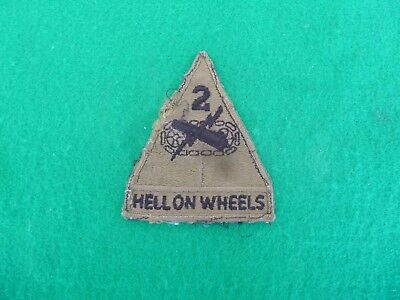 WWII US Army 2nd Armored Division Shoulder Patch, Pre Worn