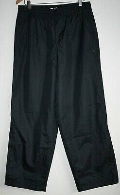 Dunlop Water Resistant Pants Golf Trousers Drawstring Zipped Ankles Navy Blue M