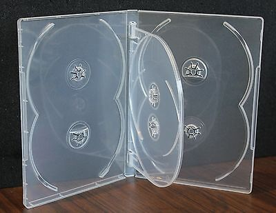 NEW! MegaDisc 5 Pk Super Clear 14 mm 6 Discs Tray DVD Case Box Holder Premium