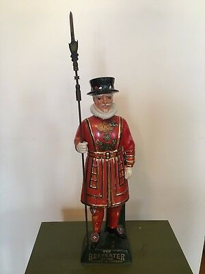 Vintage Ceramic Beefeater London Gin Statue