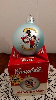 1998 Campbell's Soup Glass Ball Ornament