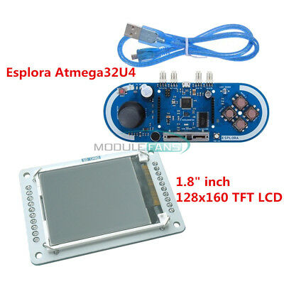 "128x160 1.8"" inch TFT LCD For 5V Atmega32U4 Esplora Joystick Game Programming"