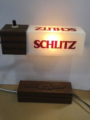 Vintage Schlitz Gooseneck Cash Register Light Works Perfectly. From 1982