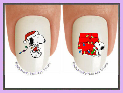 Christmas Snoopy.Nail Decals 822x Christmas Snoopy 8 Holiday Lights Waterslide Nail Art Transfer
