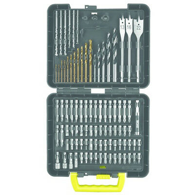 Ryobi 95 Piece Masonary, Wood & Metal Drill Bit & Screwdriver Bit Set & Case NEW