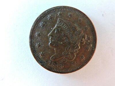 1839 US Coronet Head Large Cent