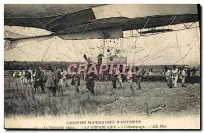 CPA Aviation Dirigeable Zeppelin Grandes manoeuvres d'Automne Le dirigeable mili