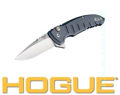 Hogue X1 Microflip Folder Gray Knife 2.75in Tumble Finish Drop Point Blade 24172
