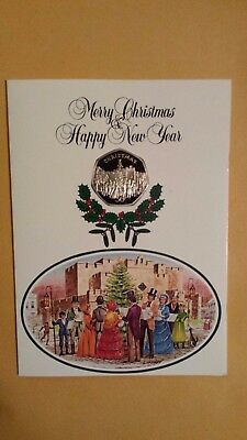 Isle Of Man 1982 Christmas Card With 50p Christmas Coin Carol Singers Design