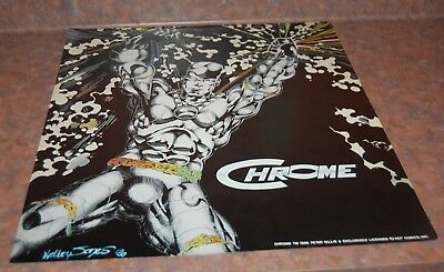 Vintage Poster Chrome  Hot Comics 1986 NOS never been used