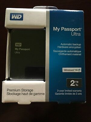 NEW WD My Passport Ultra 2TB USB 3.0 Portable External Hard Drive WDBBKD0020BPK