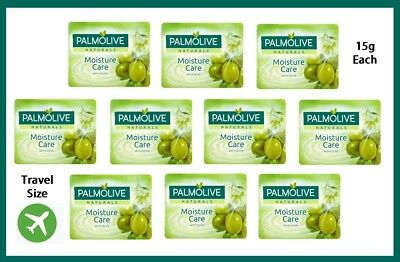 10 x PALMOLIVE NATURALS SOAP WITH OLIVE 15g EACH For TRAVEL & HOLIDAYS