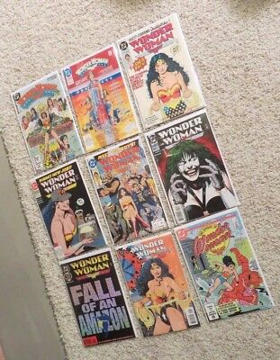Wonder Woman #1 Feb 1987 and Wonder Woman comic bundle #50,63,73,74,97,100 VFNM