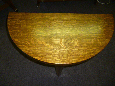antique Oak Table Game poker Tiger quarter sawn Refinished Round table folding