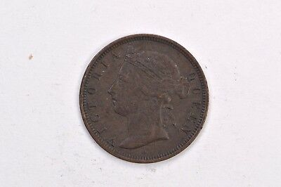 1882 H Mauritius Two Cent Piece In Great Condition .99c NO RESERVE