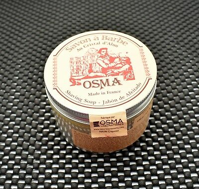 Osma Shaving Soap with Alum Stone & Shea Butter Made in France