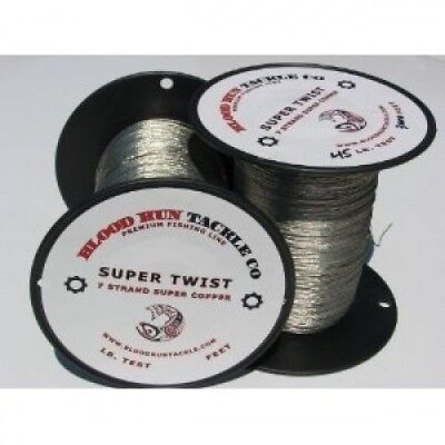 Blood Run Tackle Copper Fishing Line 1000' 20kg. Shipping is Free