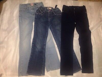 Girls Size 10 Lot Of (3) Jeans