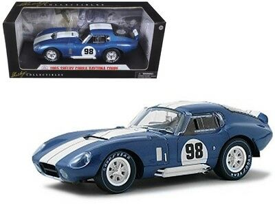 1965 Shelby Cobra Daytona Coupe Blue #98 1:18 Diecast Car Shelby Collectibles