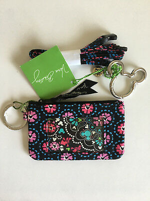 NWT Vera Bradley Disney Zip Id Case & Lanyard Set **Mickey and Minnie Medallian