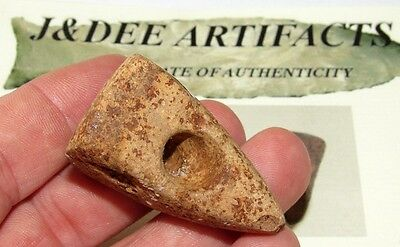 Authentic G-9 Ft Ancient Peace Pipe Kentucky Indian Artifact COA Arrowhead