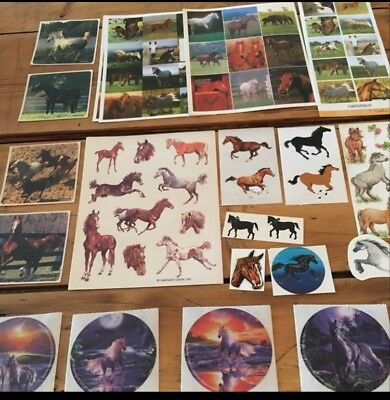Vintage Lot Of Horse Stickers