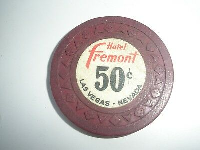 Hotel Fremont 50 cent Poker Chip obsolete downtown