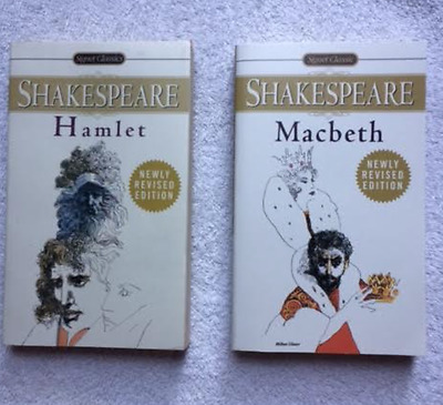 2 Classic Novels Shakespeare Macbeth Hamlet Newly revised edition books school