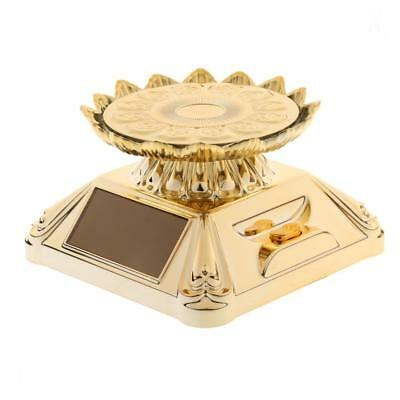 Solar/ Battery Powered Lotus Rotating Display Stand for Jewelry Watch Gold