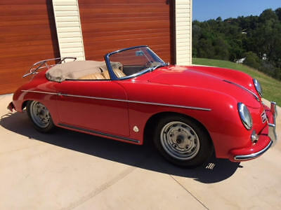 1959 Porsche 356 Roadster in Stunning Red and Cream Trim