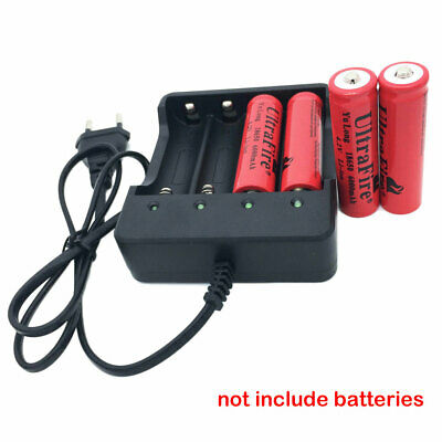 NEW 4 Slots EU Plug Battery Batteries Charger for 3.7V 4x 18650 Rechargeable