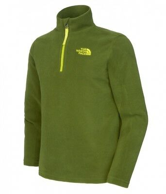 The North Face Glacier pullover Children 1/4 Zip green Size 140-146 2014 jumper