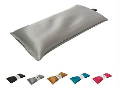 (Silver -Ultra Silky Satin) - Unscented Eye Pillow - Migraine, Stress &