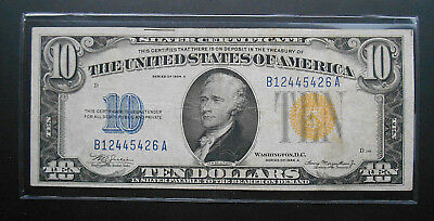 1934A $10 North Africa Emergency Issue Silver Certificate EF