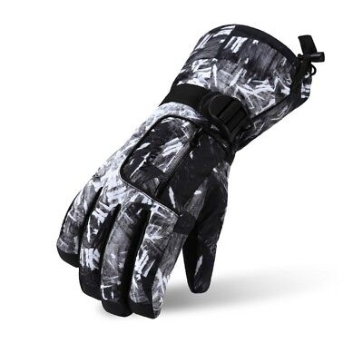 (X-Large, Black) - Ski Gloves, Lemonworld Snow Warm Gloves for Men Women kids,