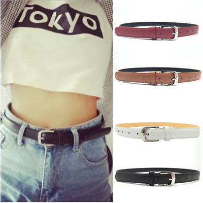Women Leather Casual / Dress Belt Classic Double-Stitched Edge Removable Buckle