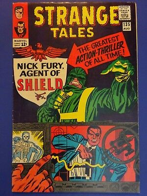 Strange Tales #135 (Aug 1965, Marvel) 1st App. Nick Fury of S.H.I.E.L.D by Kirby