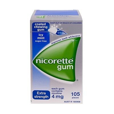 Nicorette 4mg (Nicotine) Chewing gum Icy Mint 420 pieces (4pk)